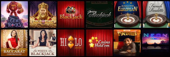 N1-Casino-spelutbud