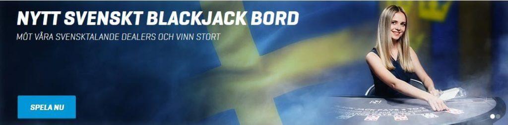 Nytt Svenskt Blackjack Bord