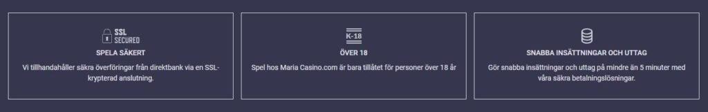 Maria Casino Kundservice